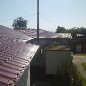 Ремонт шиферной  крыши. Устранение протеканий.