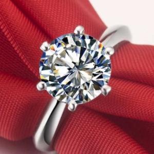 Продам кольцо с искусственным бриллиантом от Tiffaney&Co