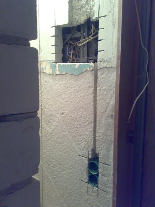 Штробление стен.Алмазная резка штроб, ниш под электрику Харьков 3
