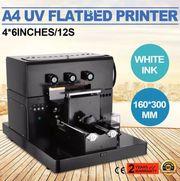 УФ UV принтер прямая печать формата А4 струйная. Печать по ткани