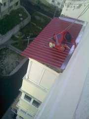 Кровельные работы,  ремонт козырьков балкона,  укл. шифера,  Харьков