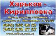 Автобус Харьков-Кирилловка,  Кирилловка-Харьков